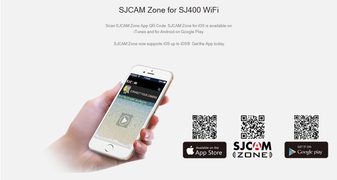 Moduł WiFi w SJCAM4000 i aplikacja mobilna