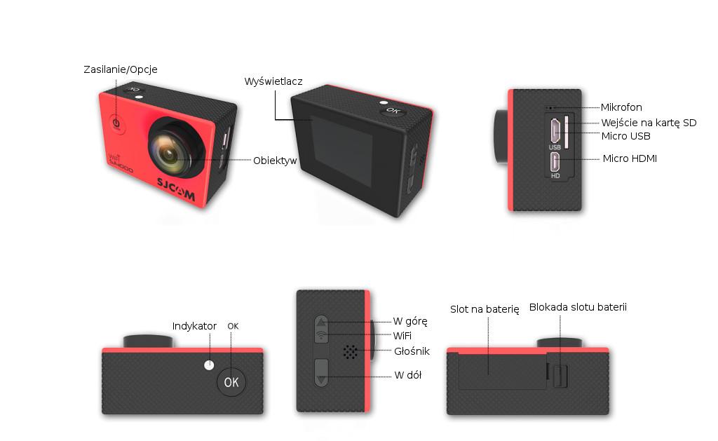 Kamera SJCAM SJ4000WiFi - specyfikacje