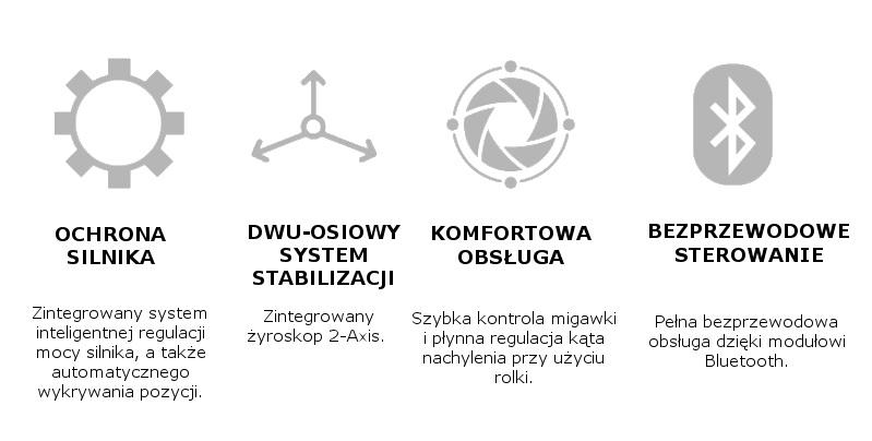 Funkcje w stabilzatorze do smartfona X-CAM Sight 2