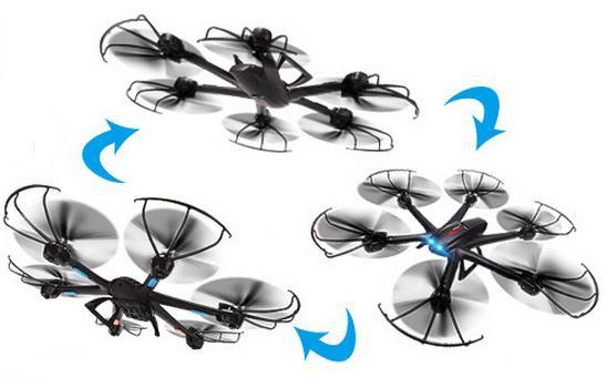 Dron latający i jego zwrotność