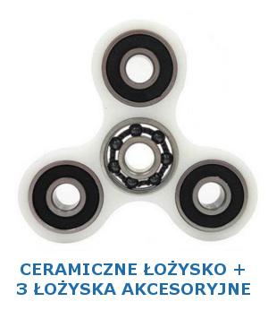 Fidget Spinner z ceramicznym cetralnym łożyskiem i 3 łożyskami akcesoryjnymi