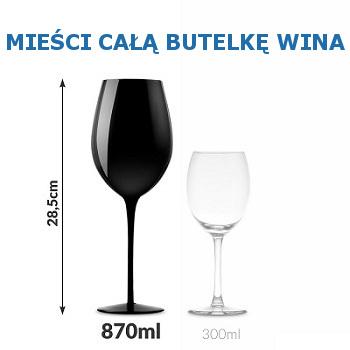 Ogromny kieliszek do wina zmieści w sobie całą butelkę