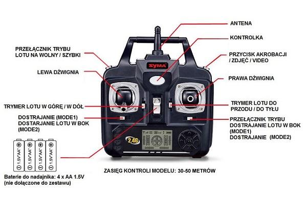 Radio dla drona latającego Syma X5HC