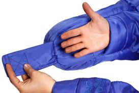 Śpiwór SelkBag Lite - system rękawiczek