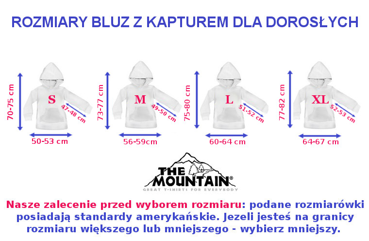 Bluza 3D The Mountain - rozmiary