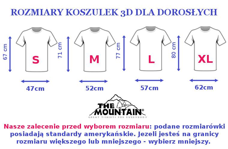 Koszulka trójwymiarowa The Mountain - rozmiary