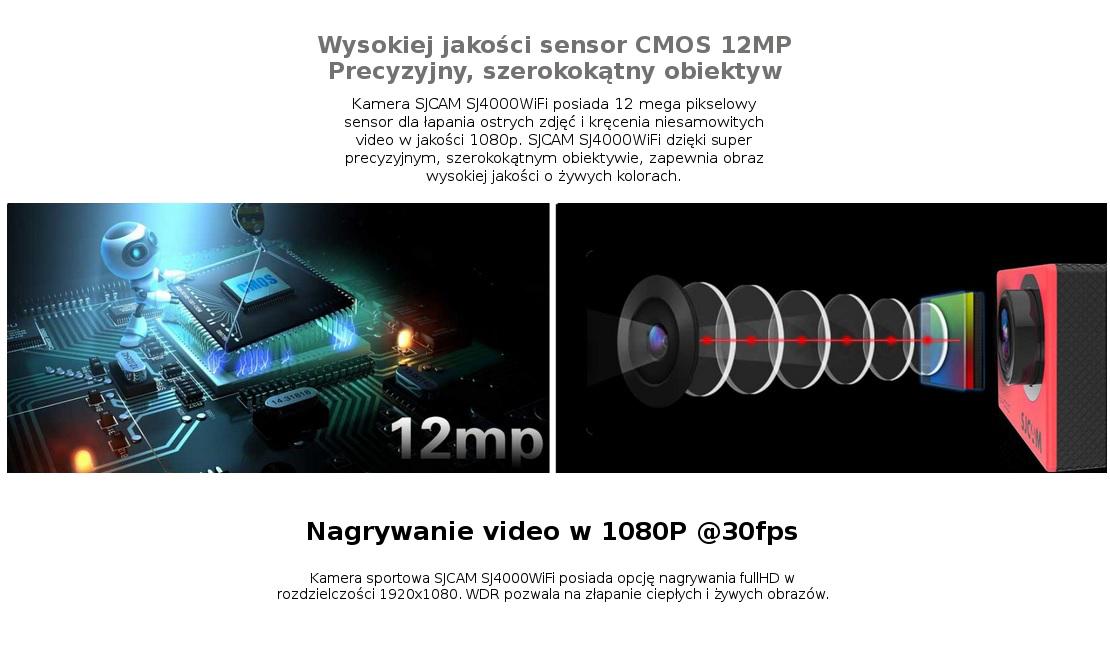 Doskonała optyka - kamera SJCAM SJ4000WiFi