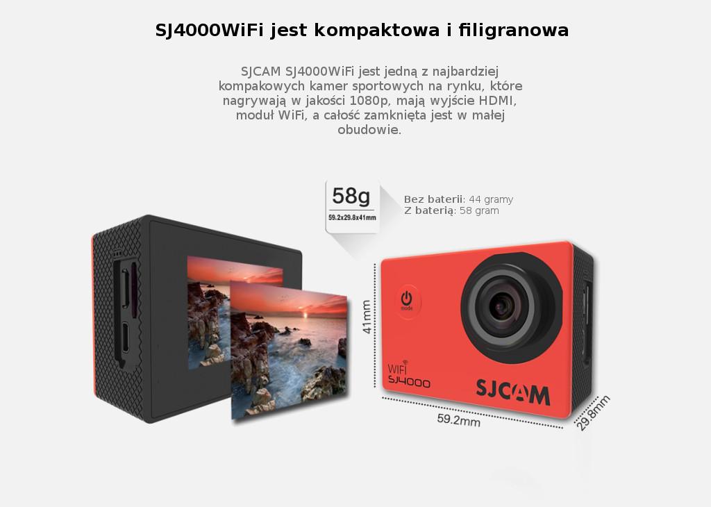 Kamera sportowa SJCAM SJ4000WiFi - małe rozmiary, duże możliwości