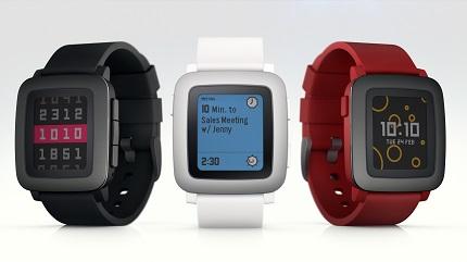 Smartwatch Pebble Time - 3 kolory