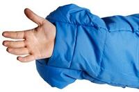 Śpiwór i system uwalniania dłoni