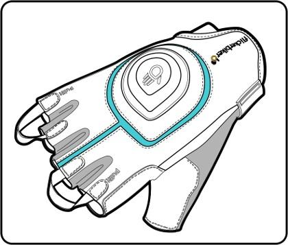 Rękawiczki z kierunkowskazem Flickerbiker - stan spoczynku