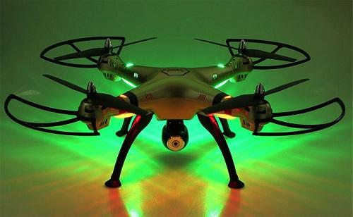 Syma X8HC - podświetlenie drona