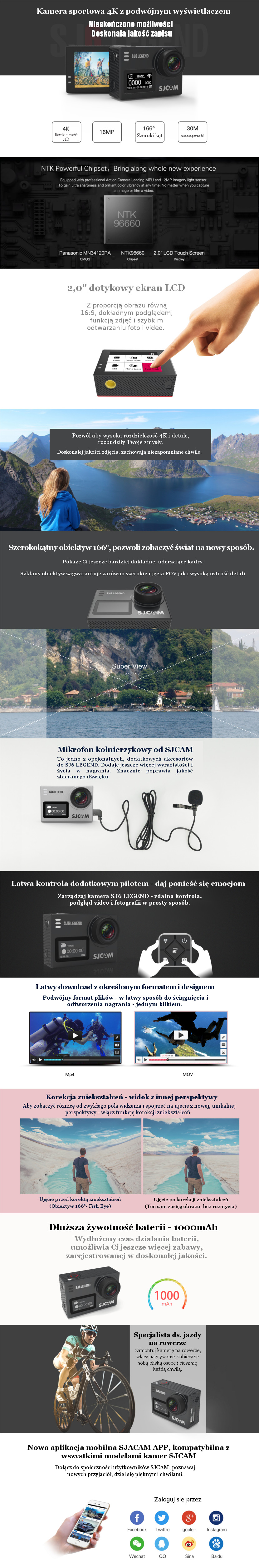 Kamera sportowa SJCAM SJ6 Legend